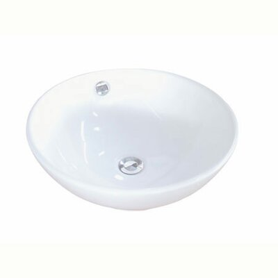Perfection Ceramic Circular Vessel Bathroom Sink with Overflow