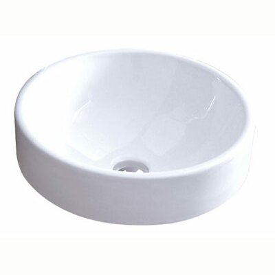 Zen Ceramic Circular Vessel Bathroom Sink