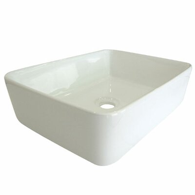 French Petite Rectangular Vessel Bathroom Sink Sink Finish: White