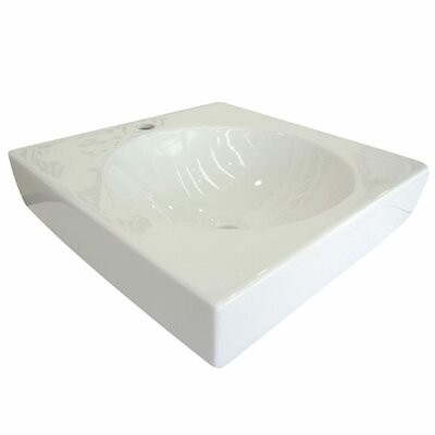 Beverly Hills Square Vessel Bathroom Sink Sink Finish: White