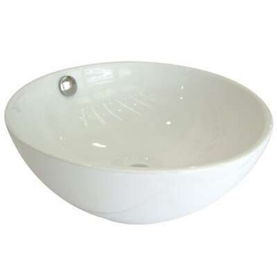Le Country Circular Vessel Bathroom Sink with Overflow