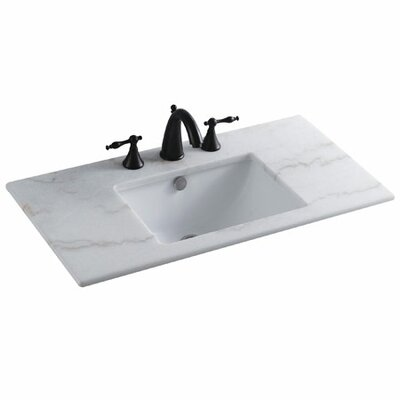 Forum Rectangular Undermount Bathroom Sink with Overflow Sink Finish: White