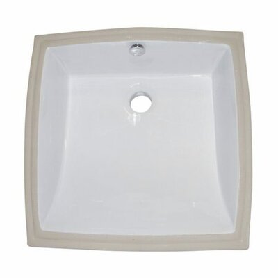Cove Square Undermount Bathroom Sink with Overflow Sink Finish: White