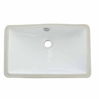 Courtyard Rectangular Undermount Bathroom Sink with Overflow Sink Finish: White