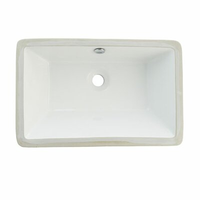 Castillo Rectangular Undermount Bathroom Sink with Overflow Sink Finish: White