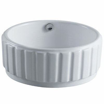 Forum Circular Vessel Bathroom Sink with Overflow