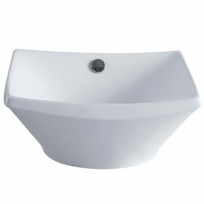Courtyard Square Vessel Bathroom Sink with Overflow