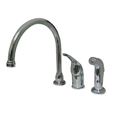 Single Handle Kitchen Faucet with Side Spray Finish: Polished Chrome