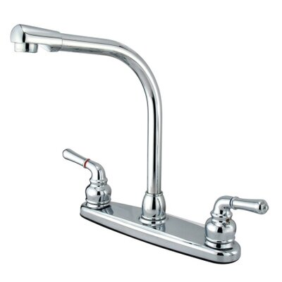 High Arch Double Handle Centerset Kitchen Faucet with Magellan Lever Handles
