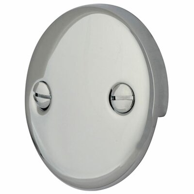2 Hole Round Plate with Screw Finish: Polished Chrome