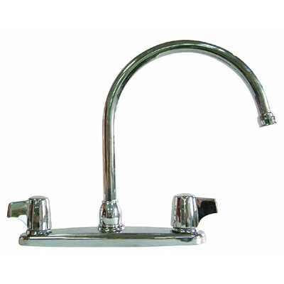 Double Handle Centerset Kitchen Faucet with Canopy Lever Handles