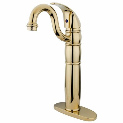 Single hole Single Handle Bathroom Faucet Finish: Polished Brass