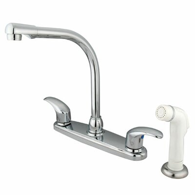 Victorian Double Handle Centerset High Arch Kitchen Faucet with Legacy Lever Handles Finish: Oil Rubbed Bronze