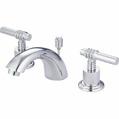 St. Charles Mini Widespread Bathroom Faucet with Double Lever Handles Finish: Polished Chrome/Polished Brass