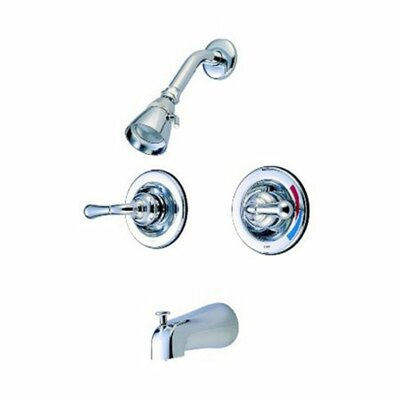 St. Charles Pressure Balanced Volume Control Tub and Shower Faucet Finish: Polished Chrome