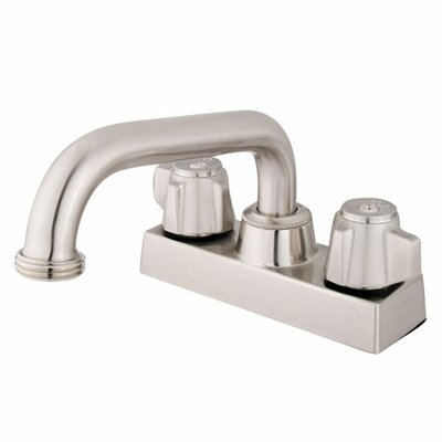 Centerset Double Handle Bathroom Faucet Finish: Satin Nickel