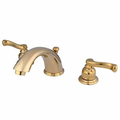 Widespread Double Handle Bathroom Faucet with Drain Assembly Finish: Polished Brass/Pvd