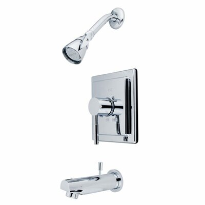 Pressure Balanced Volume Control Tub and Shower Faucet Finish: Polished Chrome
