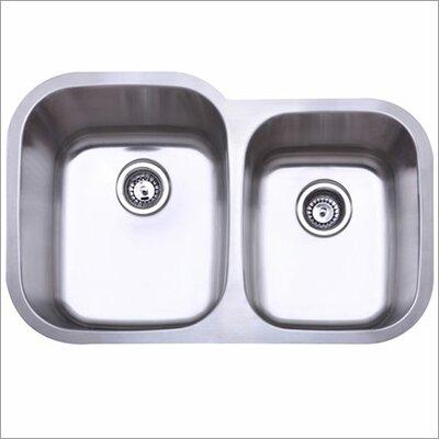 31.5 x 20.5 Gauge Undermount Double Bowl Kitchen Sink