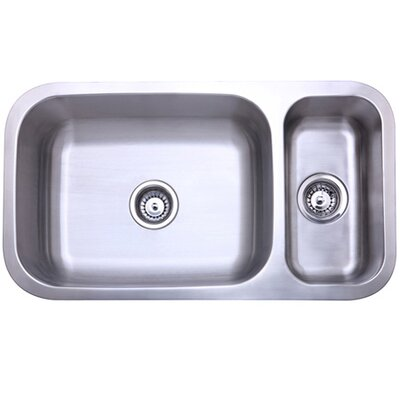 32 x 17.75 Double Bowl Undermount Kitchen Sink