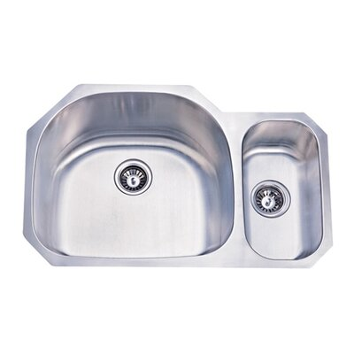 31.5 x 20.69 Double Bowl Undermount Kitchen Sink