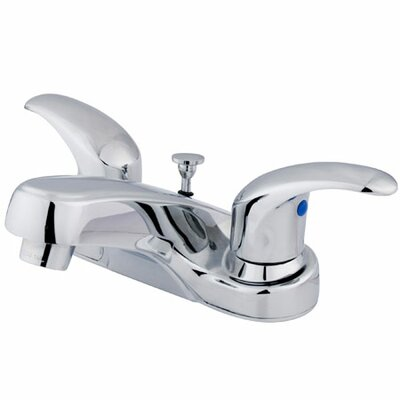 Centerset Bathroom Faucet with Double Lever Handles Finish: Polished Chrome