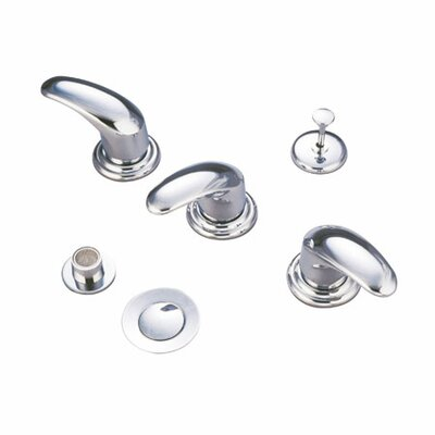 Triple Legacy Handle Vertical Spray Bidet Faucet Finish: Polished Chrome