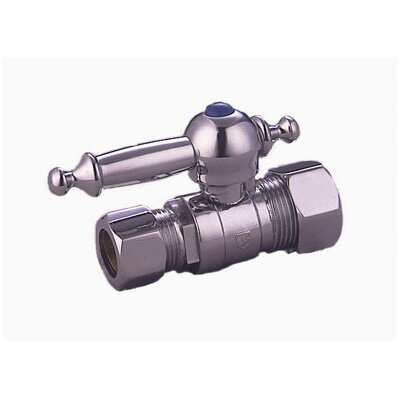 Decorative Quarter Turn Valves with Templeton Lever Handles Finish: Polished Chrome