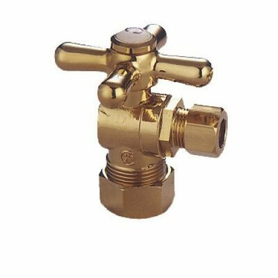 Accents Decorative Quarter Turn Valves with Cross Handles Finish: Polished Brass