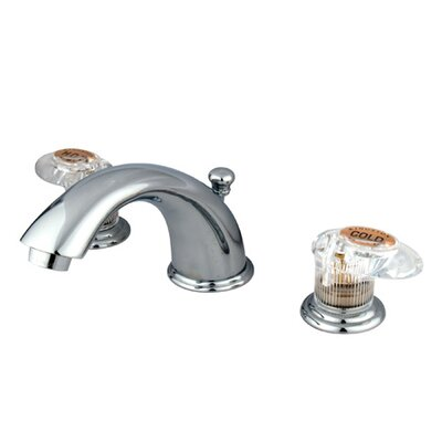 Magellan Widespread Faucet with Double Push Tilt Handles Finish: Polished Chrome