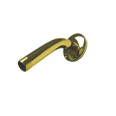 Hot Springs 6 Shower Arm and Flange Finish: Polished Brass
