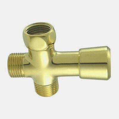 Shower Diverter Finish: Polished Brass