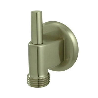 Brass Supply Elbow with Pin Finish: Satin Nickel