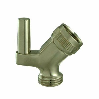 Brass Swivel Shower Arm Mount Finish: Satin Nickel