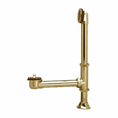 Vintage Brass Claw Foot Tub Drain with Lift And Turn Finish: Polished Brass