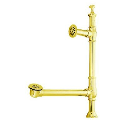 Vintage Accents British Lever Style Tub Drain Finish: Polished Brass