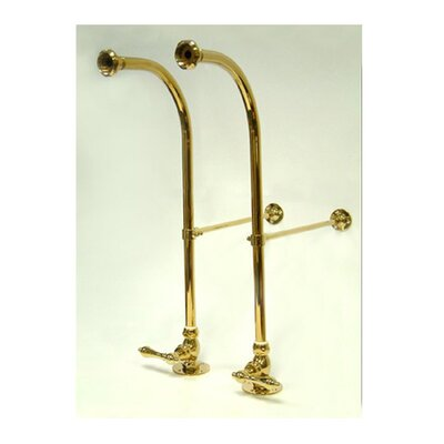 Vintage Freestanding Water Supply with Metal Lever Finish: Polished Brass