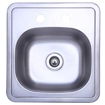 15 x 15 Single Bowl Kitchen Sink
