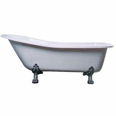 Vintage 69 x 28 Acrylic Soaking Bathtub Leg Finish: Chrome