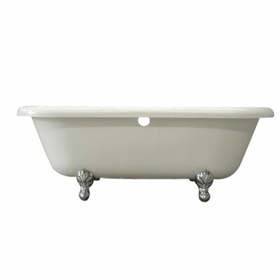 Vintage 67 x 29 Acrylic Soaking Bathtub Finish: Chrome