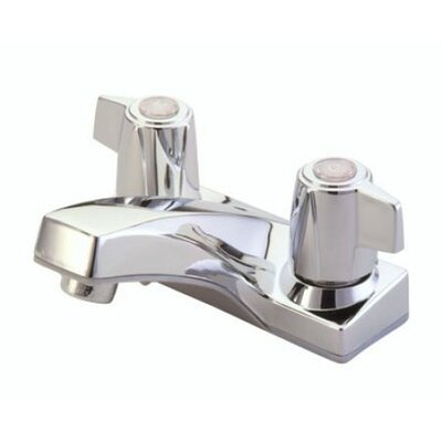 Centerset Bathroom Faucet with Double Lever Handles Drain: Without Pop Up Drain, Finish: Polished Chrome / Satin Nickel