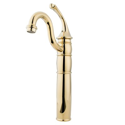 Single Hole Vessel Sink Faucet with Single Georgian Lever Handle Finish: Polished Brass