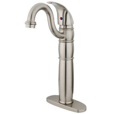 Single hole Single Handle Bathroom Faucet Finish: Satin Nickel