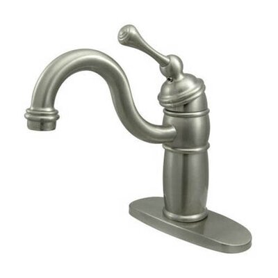 Single Handle Single Hole Bar Faucet with Buckingham Lever Handles Finish: Satin Nickel