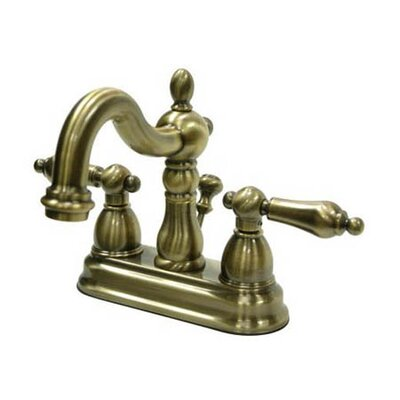 Heritage Centerset Double Handle Bathroom Faucet with Drain Assembly Finish: Vintage Brass