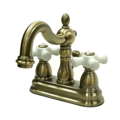 Heritage Centerset Bathroom Faucet with Double Porcelain Cross Handles Finish: Vintage Brass
