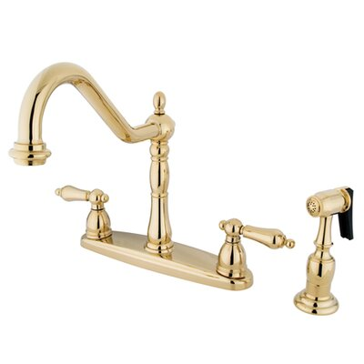 Heritage Touchless Double Handle Kitchen Faucet Finish: Polished Brass