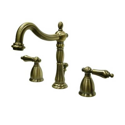 Heritage Widespread Bathroom Faucet with Double Lever Handles Finish: Vintage Brass