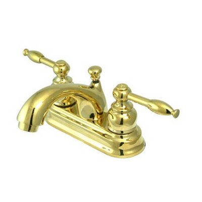 St. Regis Centerset Lever Handle Bathroom Faucet Finish: Polished Brass