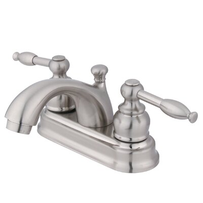 St. Regis Centerset Double Handle Bathroom Faucet with Drain Assembly Finish: Polished Nickel